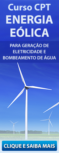 Curso CPT Energia Eólica - Para Geração de Eletricidade e Bombeamento de Água. Clique aqui e conheça!