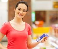 Medição da temperatura de diferentes tipos de produtos alimentícios