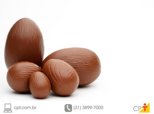 Independentemente de ser recheado ou não, os Ovos de Páscoa devem ser armazenados em temperatura entre 20 e 25°C
