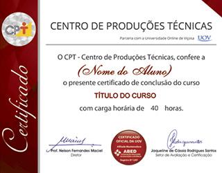 Certificado de Conclusão do Curso CPT