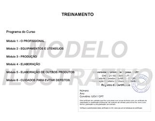 Veja um exemplo ilustrativo do Certificado de Conclusão de Curso (Verso)