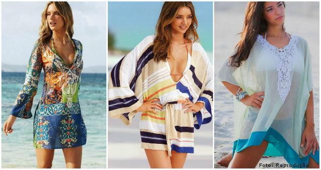 Kaftan - moda praia solta e confortável - Dicas Cursos CPT