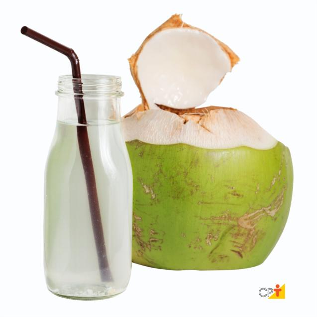 Água de coco na caixinha