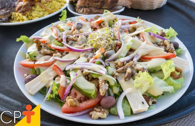 Salada de palmito com batatas   Artigos Cursos CPT
