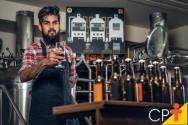 Cervejaria artesanal: tanque de água quente e cozinha