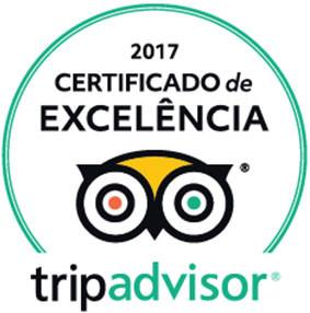 Certificado de Excelência 2017 pelo TripAdvisor