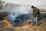 Construção de aceiros em áreas de declive para contenção de fogo