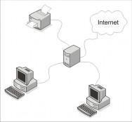 A linguagem Java também permite desenvolver um aplicativo que se comunique de forma que cliente e servidor interajam em uma rede de computadores.