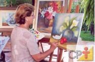 Pintura a óleo sobre tela: mistura das cores