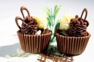 Copinhos de chocolate para a Páscoa