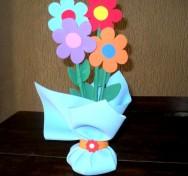 Artesanato em EVA - Peso Arranjo de Flores para Porta
