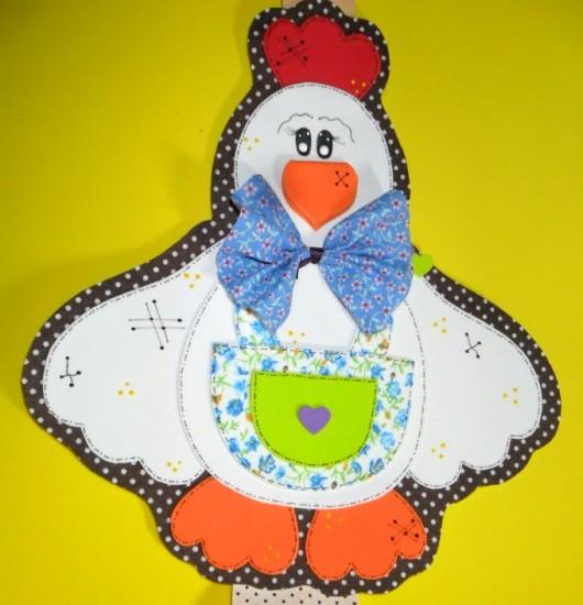 Artesanato Simples E Facil ~ Artesanato em EVA Enfeite Galinha para Cozinha Cursos a Dist u00e2ncia CPT