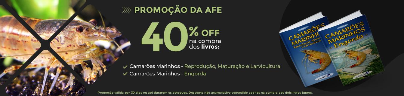 Promoção na AFE! 40% OFF na compra dos livros