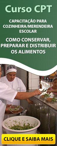 Curso CPT Capacitação para Cozinheira - Merendeira Escolar - Como Distribuir os Alimentos. Clique e Conheça.