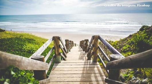 Visão de uma praia