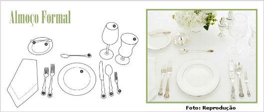 Regras de etiqueta à mesa: Almoço formal - Artigos ER