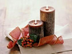 Velas artesanais para decorar sua casa neste Natal. Foto: Reprodução