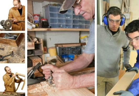 Marcenaria - ferramentas manuais,  forma de operação e manutenção dos equipamentos