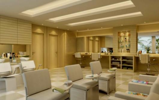 Salão de beleza - escolha corretamente as cores das paredes e pisos