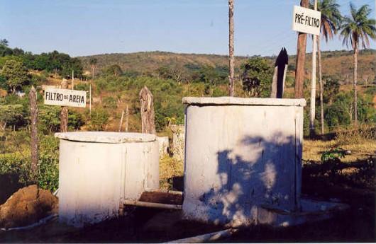 Tratamento de água no meio rural - mecanismo de filtração da água