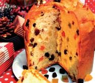 O panetone é um alimento tradicional da época de Natal.