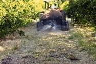 Pulverização em baixa vazão no solo, sobre as ervas espontâneas roçadas ou restos de cultura