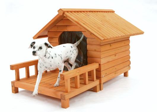 Se o cachorro for ficar em ambiente externo escolha por casinhas que protejam do sol e do frio