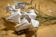 Origami - como fazer  a flor Tulipa de papel