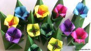 Origami - aprenda a fazer uma flor de 4 pétalas em papel