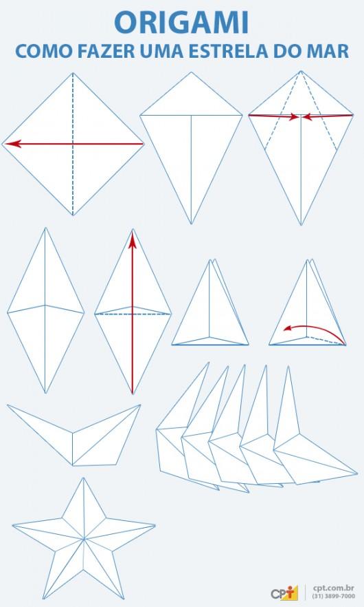 Origami - como fazer uma estrela do mar de papel