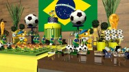 Como decorar bolo - tema seleção brasileira