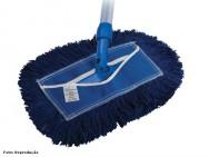O sistema Mop pó serve para remover partículas soltas, que se encontram depositadas sobre o piso
