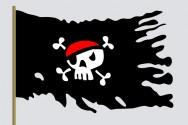 Como decorar bolo - tema Piratas