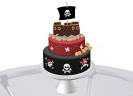 Os bolos deverão ser de tamanhos diferentes (e maiores que o barco