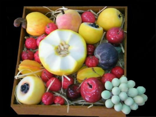 Frutas e legumes em parafina - confecção das formas e moldes. Foto: Reprodução