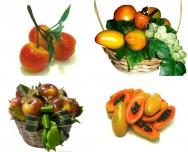Tão reais quanto as frutas e legumes in natura, as réplicas de parafina ornam os mais variados tipos de ambientes. Foto: Reprodução