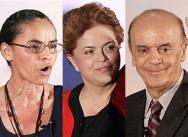 Os candidatos à presidência, Marina, Dilma e Serra debatem suas ideias sobre o agronegócio brasileiro.