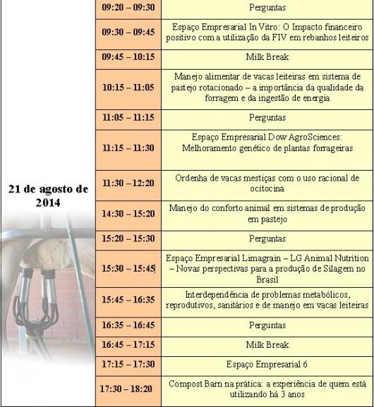 Já na sua décima quarta edição, acontecerá nos dias 20 e 21 de agosto o InterLeite Brasil. O evento será realizado no Center Convention, em Uberlândia/MG,