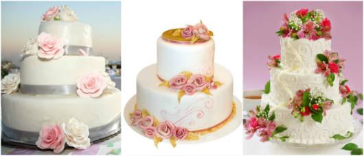 Os bolos de dois e três andares são a sensação nos casamentos e aniversários.
