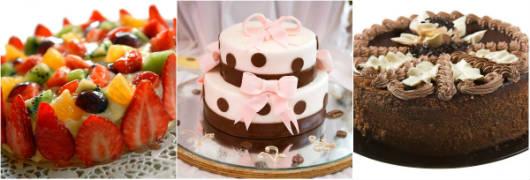 Sejam de frutas, pasta americana ou glacê, os bolos encantam a todos os paladares.