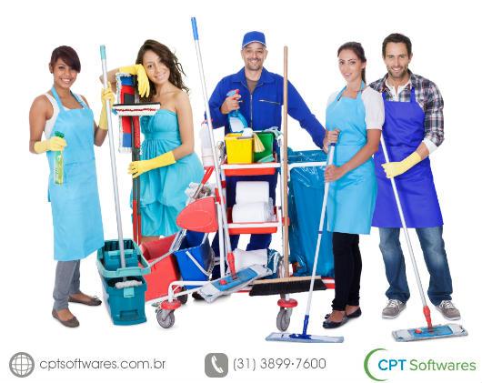 Equipe profssional de limpeza