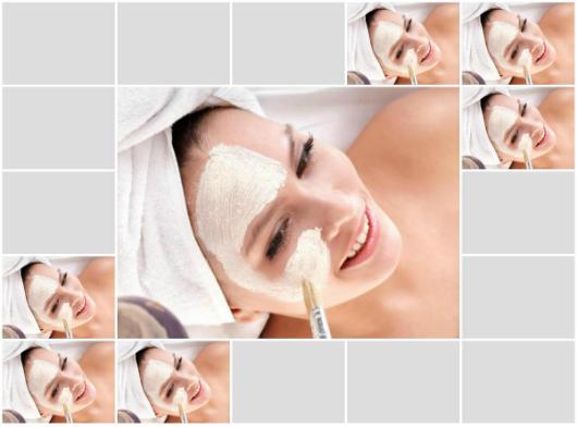 Face em tratamento contra a oleosidade da pele