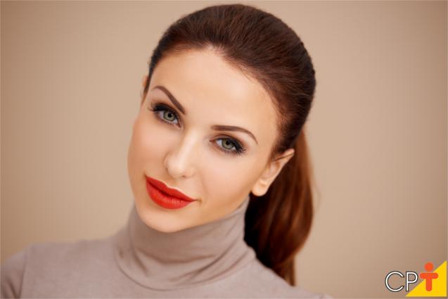 Mulher maquiada