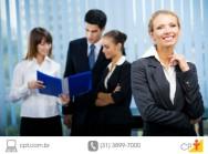 Pessoa confiante para a entrevista