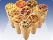 A pizza cone parece a combinação perfeita para a vida agitada da sociedade.