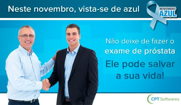 Novembro azul: A campanha é em prol do câncer de próstata