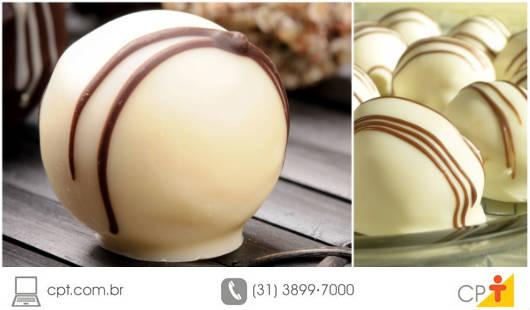 O sabor ácido do maracujá unido ao doce suave do chocolate branco fazem um casamento perfeito, deliciando todos os que provam essa mescla de sabores