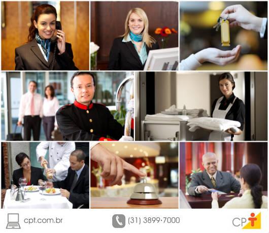 O processo de hospedagem pode ser dividido em quatro etapas: reserva, check-in, período de permanência no hotel e check-out