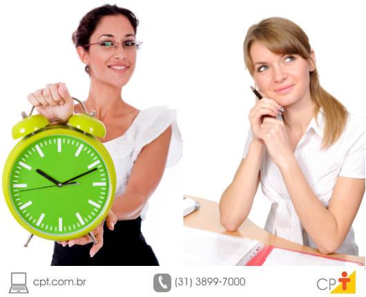 Conhecendo os níveis de capacidade de uso do tempo, é possível verificar quais são as suas horas mais produtivas