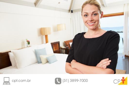 A profisão de governanta em uma hotel